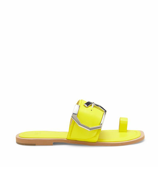 Altan Buckle Slide Sandal - Yellow