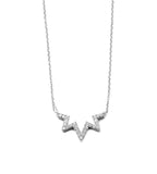 Aztec Starburst Zig Zag Necklace Silver