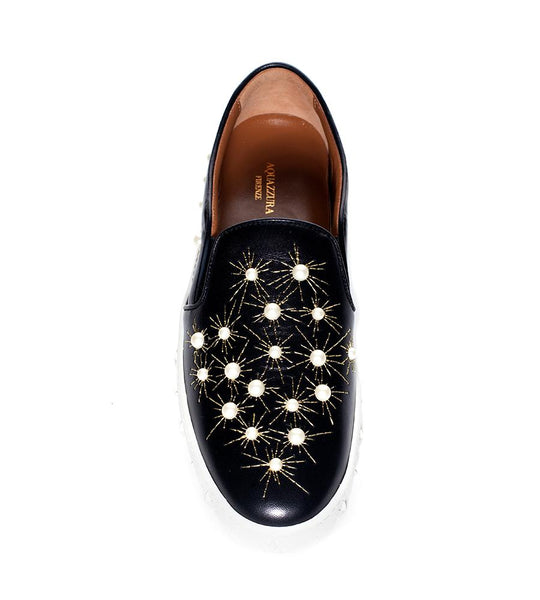 Aquazzura Cosmic Pearls Slip On - TheSeptember.com