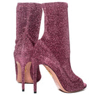 EXCLUSIVE Eclair Peep-Toe Bootie
