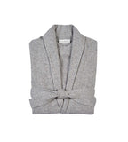 Long Cashmere Robe Grey Heather