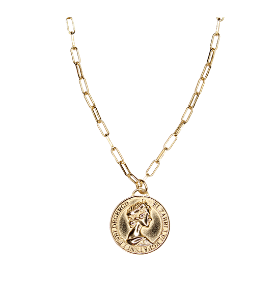 Augusta Ancient Coin Necklace