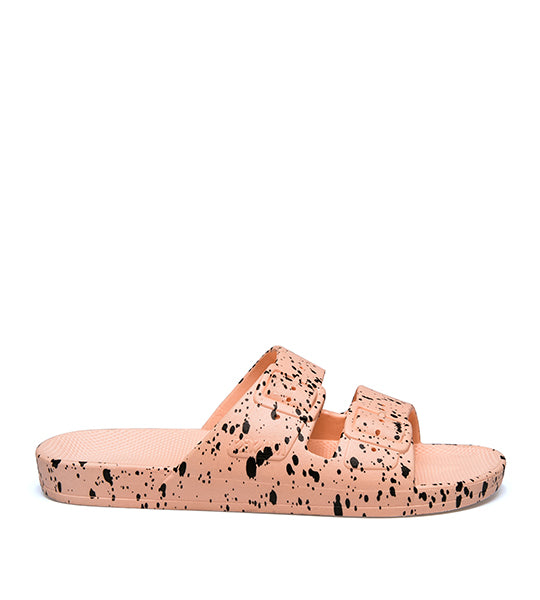 Two Strap Sandal Pink Splatter