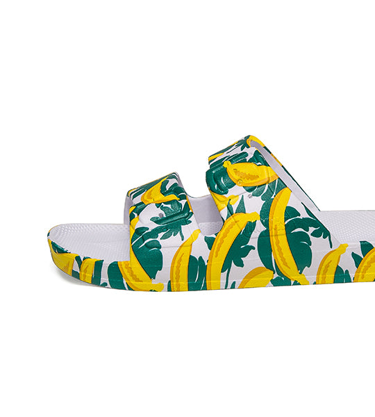 Two-Strap Sandal Banana Print