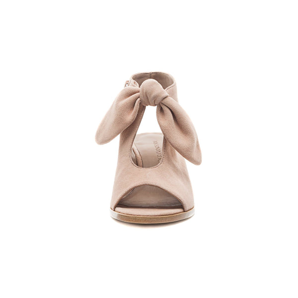 Luna Wood Heel Sandal Blush
