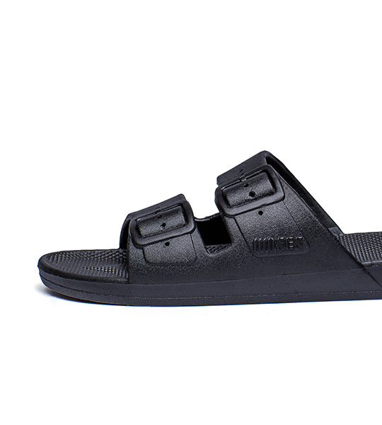 Two Strap Sandal Black