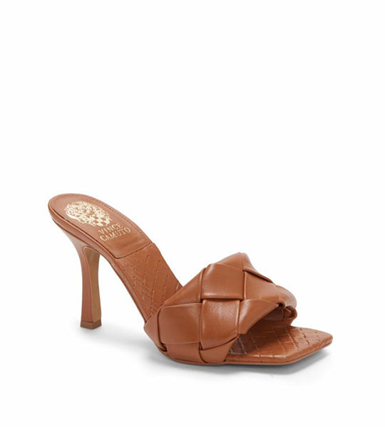 Brelanie Woven Leather Mule - Brown