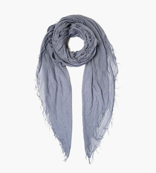 Cloud Grey Metallic Cashmere And Silk Scarf