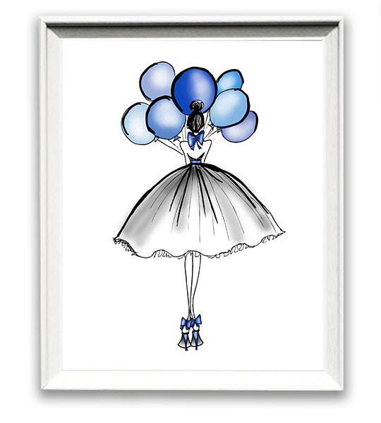 Blue Balloon Babe