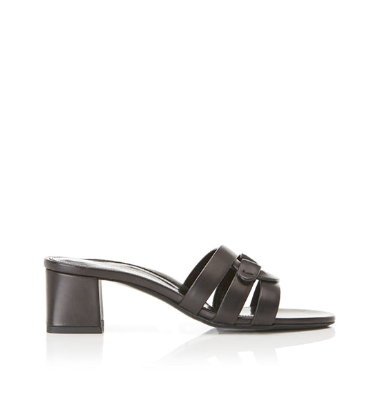 Billie | Interlocking Straps Block Heel Slide Sandal