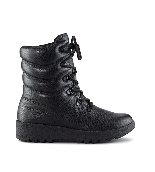 Blackout Winter Leather Pillow Boot
