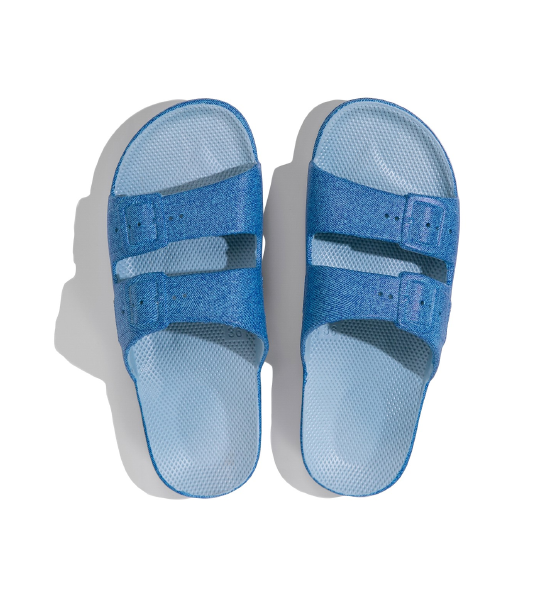 Two-Strap Sandal Blue Jeans