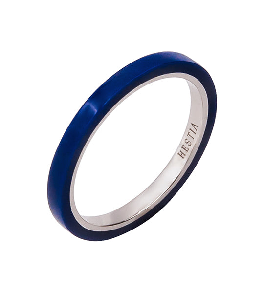 Billie Blue Ceramic Ring