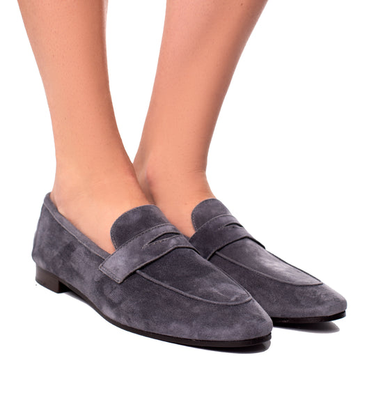 Grey Suede Loafer