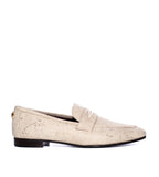 Painted Linen Loafers