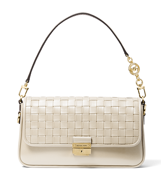 Bradshaw Small Woven Shoulder Bag - Light Cream