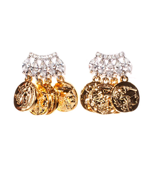 Jagged Mykonos Bar Earrings