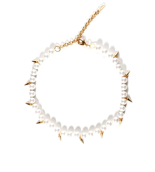 Linda Pearl Spike Collar