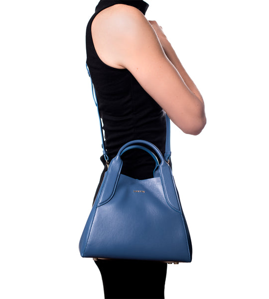 Lanvin Blue Mini Tote - TheSeptember.com