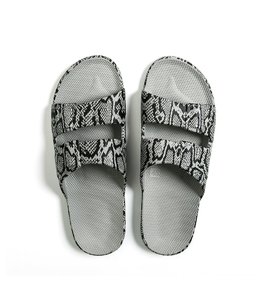 Two Strap Sandal Cobra Grey