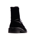 Cabrini Laceup Ankle Boot - Black Patent