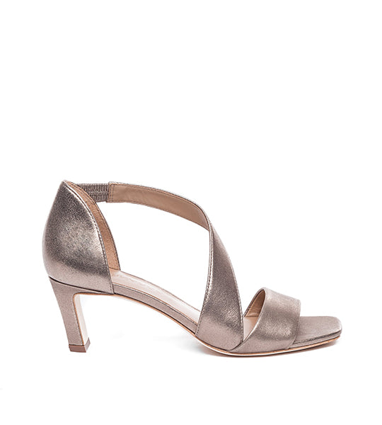 Camille Metallic Cross-Strap Sandal