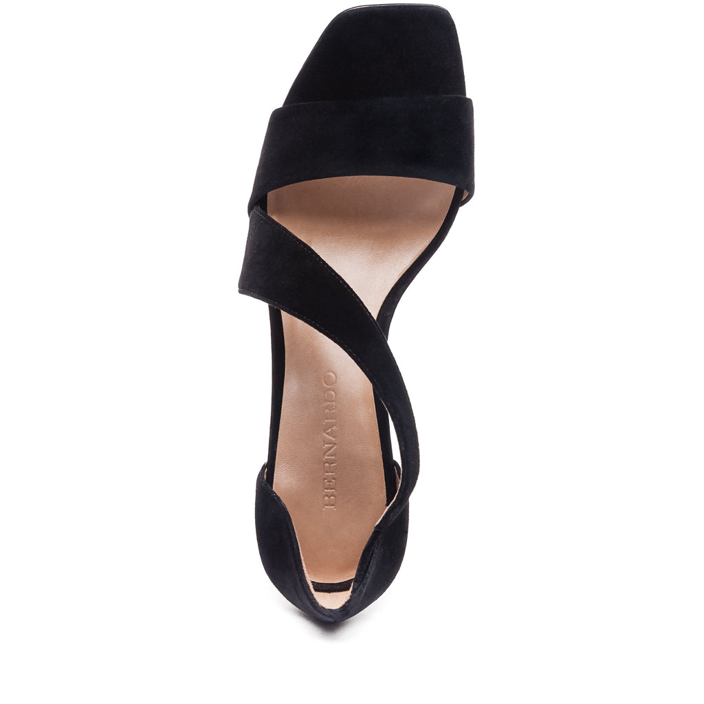 Camille Black Cross-Strap Sandal