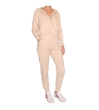 Farrah Cashmere Two Piece Lounge Set - Light Oatmeal