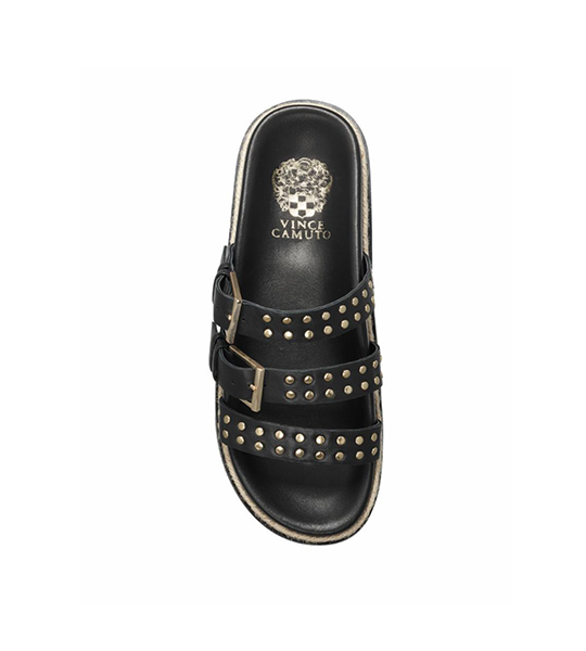 Ciandra Studded Slide - Black