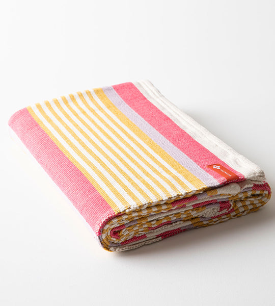 Cotton Yoga Blanket Coral Reef