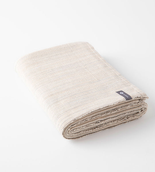 Cotton Yoga Blanket Natural