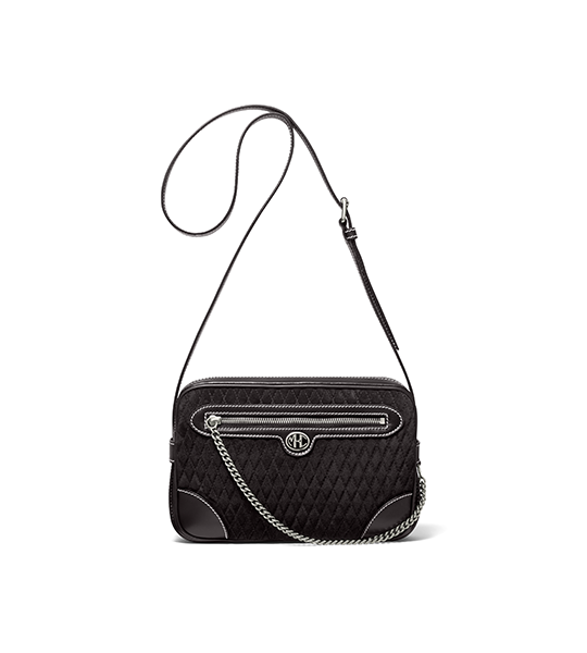 Monogramme Quilted Suede Crossbody Bag