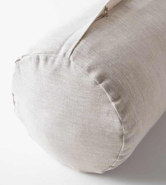 Cylindrical Bolster - Natural Linen