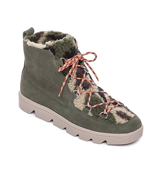 Dana Suede Lace-Up Boot Camo