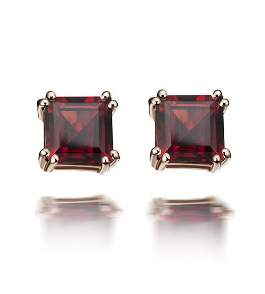 Sophia Red Garnet Earrings