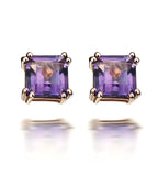 Sophia Purple Amethyst Earrings