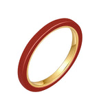 Billie Red Ceramic Ring