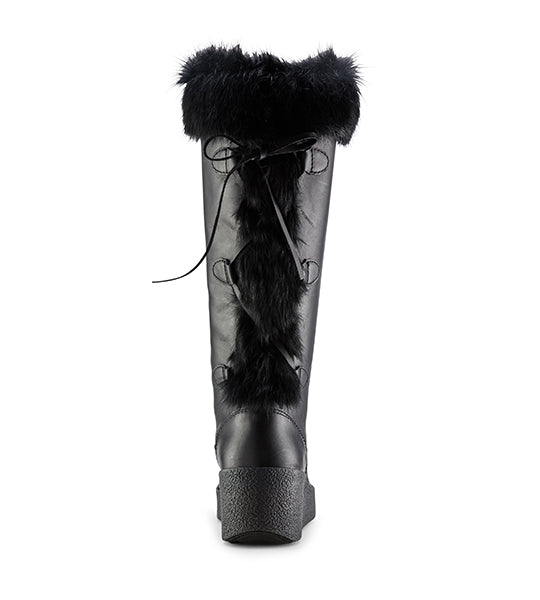 Durand Tall Leather Boot - Black