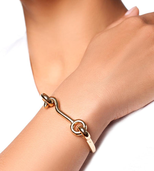 Eddie Borgo Door Latch Cuff Gold - TheSeptember.com