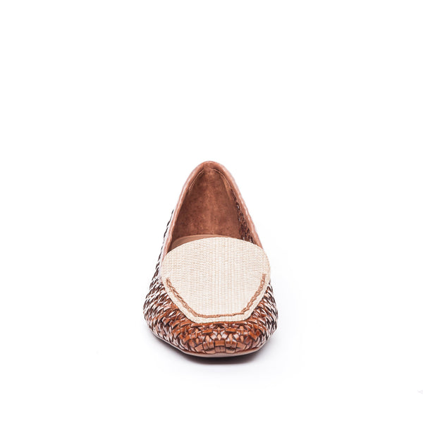 Edyth Flat Woven and Natural Raffia