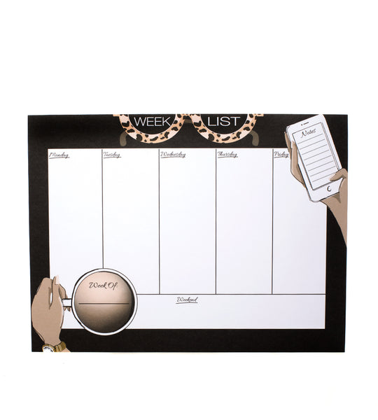 Week List Desk Pad