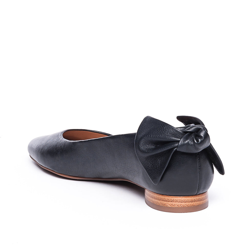 Eloise Black Flat with Bow