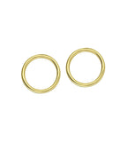 Embrace 14K Gold Open Circle Earrings