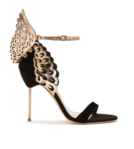 Evangeline Black Rose Butterfly Sandal