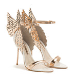 Evangeline White Rose Gold Butterfly Sandal