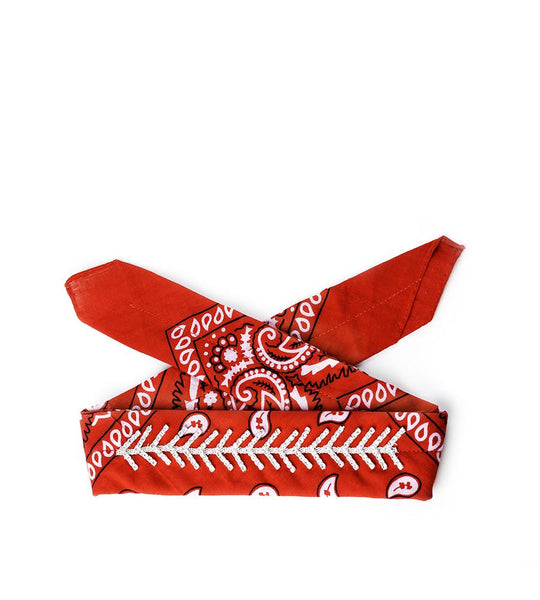 Monarch Diamante Bandana Red