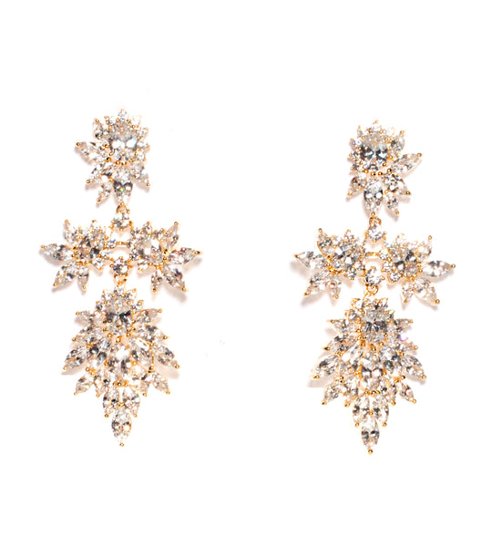 Cluster Marquis Statement Earring