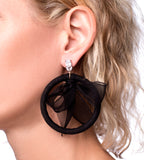 Tuxedo Bow Earrings