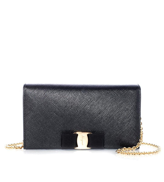 Salvatore Ferragamo Miss Vara Wallet On A Chain - TheSeptember.com