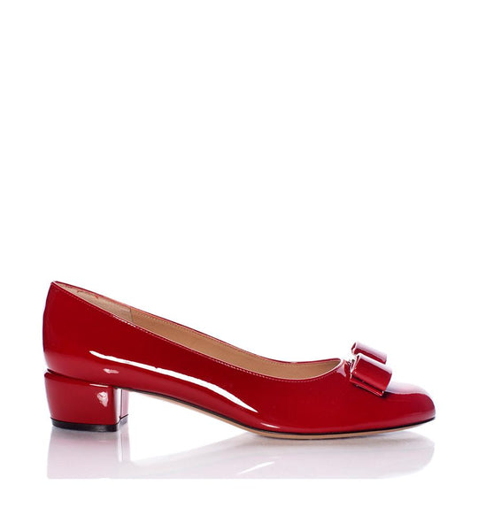Vara Patent Leather Pump Red